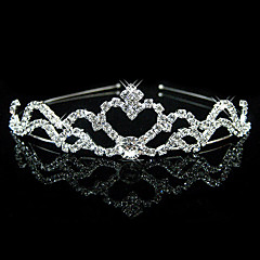 Wedding Bridal Crystal Veil Tiara Crown Headband