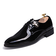 Men's Shoes Wedding / Office & Career / Party & Evening / Casual Fashion Slip-on PU Oxfords Black / Blue