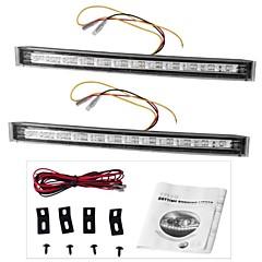 2 x 12 הובילו DRL יום יום משאית מכונית פועלים 12v מנורת אור האיתות