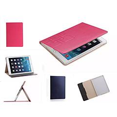 luxe raster lederen tas kaarthouder staan Smart Cover beschermende boek gevallen voor de iPad mini 3/2/1 (assorti kleur)