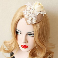 Women's Lace / Imitation Pearl / Fabric Headpiece - Wedding / Special Occasion Fascinators