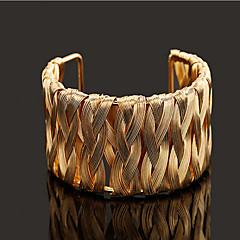 Women's Cuff Bracelet Gold / Silver / Alloy Non Stone