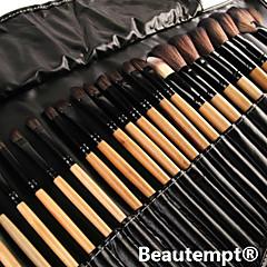 Набор профессиональных кистей для макияжа, 32 шт., с бежевыми ручками