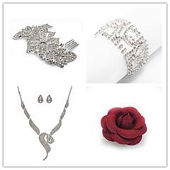 Wedding Suit(Headdress & Necklace & Earrings & Bracelet & Brooch)