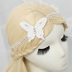 Damen / Blumenmädchen Strass / Chiffon Kopfschmuck-Hochzeit / Besondere Anlässe Stirnbänder 1 Stück Weiß Rund