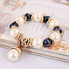 Women's Persona Beads Collection Bracelet Obsidian Crystal / Imitation Pearl / Rhinestone