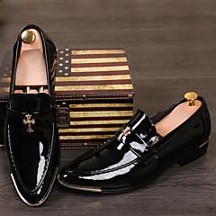 אוקספורד / החלקה גברים של נעליים חתונה / קז'ואל / מסיבה וערב עור פטנט / דמוי עור שחור / צהוב / אדום