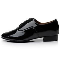 Men's Dance Shoes Latin / Samba /Performance Leatherette Chunky Heel Black / White