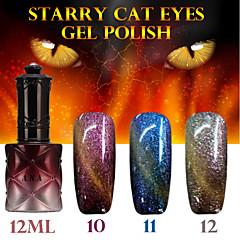 1pcs ana gato estrelado 12colors 12ml gel olhos cor de longa duração unha polonês 10-12