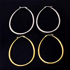 ステンレス鋼 円形 幾何学形 ゴールド ホワイト ジュエリー のために パーティー 誕生日