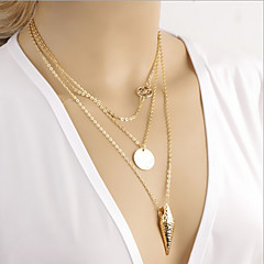 The arrow pierced metal ID multilayer Butterfly Necklace
