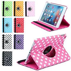 impressão de luxo bolinhas 360 rotação estojo de couro pu para mini tablet Apple iPad 3/2/1 capinha tampa inteligente aleta com suporte
