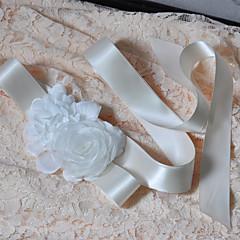 Satin Mariage / Fête/Soirée / Quotidien Ceinture-Fleur / Volants Femme 250cm Fleur / Volants