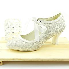 Women's Wedding Shoes Round Toe Heels Wedding / Dress White
