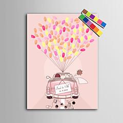 ציור טביעת אצבע אישית דואר home® הדפסי בד - רכב לחתונה (כולל 12 דיו fcolors)