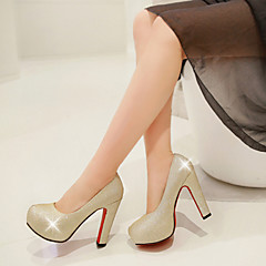 Women's Shoes Heel Heels / Platform Heels Wedding / Dress / Casual Black / Blue / Red / Silver / Gold