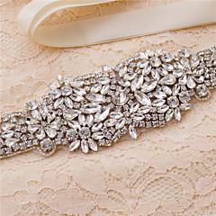 Satin Wedding / Party/ Evening / Dailywear Sash-Beading / Appliques / Crystal / Rhinestone Women's 98 ½in(250cm)Beading / Appliques /