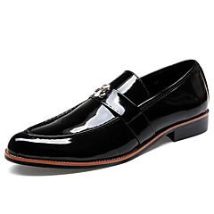 옥스퍼드 남자 신발 웨딩 / 사무실 & 커리어 / 캐쥬얼 / 파티/이브닝 레더렛 / PU 블랙 / 브라운