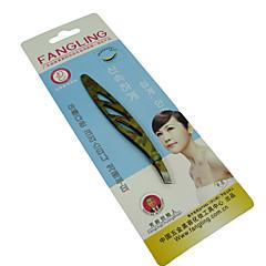 Eyebrow Tweezer Stainless Steel 1pcs Ellipse 8x2x2cm Normal Yellow