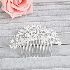 Women's Rhinestone Headpiece-Wedding / Special Occasion / Casual / Office & Career / Outdoor Hair Combs 1 Piece Clear Round