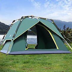 אוהל - עמיד למים / נשימה / נגד חרקים ( ירוק צבאי , 3-4 אנשים )