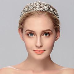 Dame Rhinestone Headpiece-Bryllup / Spesiell Leilighet / Avslappet / Kontor & Karriere / Utendørs Diademer 1 Deler Sølv Rund