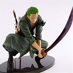One Piece Roronoa Zoro Engineering Plastic 12*9*18 Anime Akcijske figure Model Igračke Doll igračkama