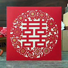 Personalized Gate-Fold Wedding Invitations Invitation Cards / Engagement Party Cards-50 Piece/Set Artistic Style Hard Card Paper