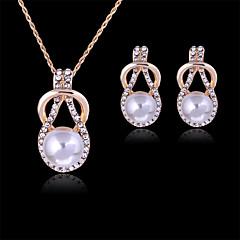 Roztomilý / Party - Žena - Náhrdelník / Náušnice (Pozlacené růžově / Slitina / Drahý kámen / Imitace perly)