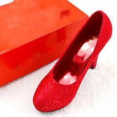 Women's Wedding Shoes Heels / Round Toe / Closed Toe Heels Wedding Red