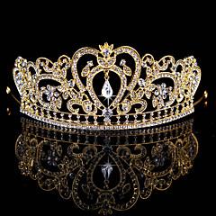Vrouwen Bloemenmeisje Bergkristal Licht Metaal Helm-Bruiloft Speciale gelegenheden Tiara's 1 Stuk