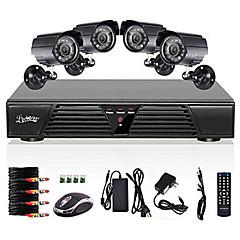 Liview® 8-kanals fuld 960 H DVR  og 4 stk. 600 TVLine dag/nat-kameraer