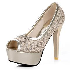 Women's Shoes Stiletto Heel Peep Toe / Platform Heels Wedding / Party & Evening / Dress Black / Red / Beige