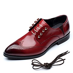 Men's Shoes Amir Limited Edition Brook Exquisite Gentry Wedding/Party Burgundy/Black Comfort Cowhide Leather Oxfords