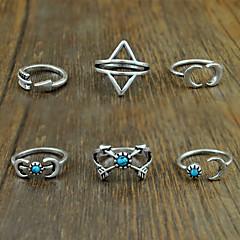 טבעות לנשים טורקיז סגסוגת סגסוגת 7 כסף צבע וסגנון עשויים להשתנות לפי מסך. אינה אחראים לשגיאות דפוס או ציוריות / ניתן להתאים את מידת הטבעת.