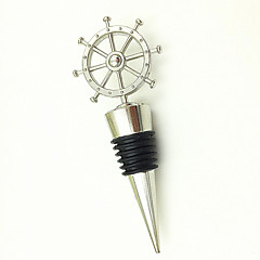 """Our Adventure Begins"" Cruise Wheel Nautical Wine Bottle Stopper Barware, Beach Wedding Favor, Ocean Party Gift"