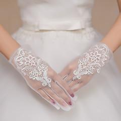 אורך פרק כף היד קצות אצבעות כפפה תחרה טול כפפות כלה כפפות ערב\מסיבה רקמה