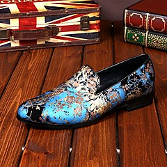 Mokasíny Modrá / Růžová Pánské boty Kůže Svatba / Party