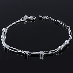 Women's Fashion Platinum Plated Pentagram Anklets