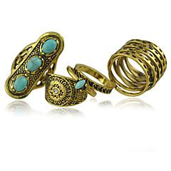 טבעות לנשים טורקיז סגסוגת סגסוגת 7 זהב / כחול צבע וסגנון עשויים להשתנות לפי מסך. אינה אחראים לשגיאות דפוס או ציוריות
