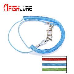 2pcs/lot Afishlure Elastic Plastic Rope Fishing Rope Miss Rope Length 62cm Spring 21cm Elongation 2m Green/Red/Blue