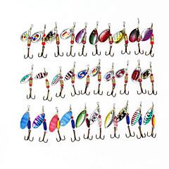 Kovové rybářské šňůry 30 ks 3-5g s háčky náhodné barvy
