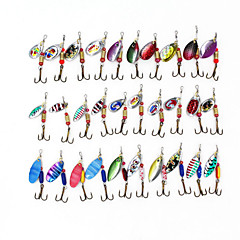 30 pcs Poissons nageur/Leurre dur Spinnerbaits Kits de leurre leurres de pêcheKits de leurre Poissons nageur/Leurre dur Leurre Buzzbait &