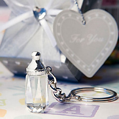Crystal Collection baby bottle key chain favors