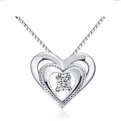 New Arrival Natural Silver Elegant Pandent Necklace with 3 Layer Platinum Plated Allergy Free