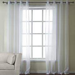 zwei Panele Window Treatment Modern , Solide Schlafzimmer Poly /  Baumwollmischung Stoff Gardinen Shades Haus Dekoration For Fenster