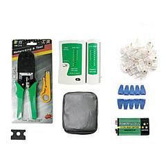 tragbaren Ethernet-Netzwerkkabel Tester Tools Kits Crimper Stripper rj45 Crimpstempel nach unten RJ11 CAT5 CAT6 Draht-Detektor