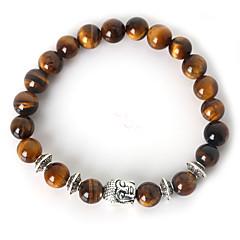 beadia 1szt mody 8mm okrągły kamień elastyczna bransoletka budda nici bransoletka srebrna 9 kolorów u-pick biżuterię