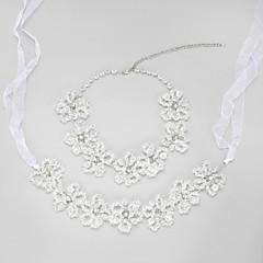 Conjunto de jóias Mulheres / Crianças Casamento / Noivado Conjuntos de Joalharia Liga Cristal Colares / Tiaras Claro