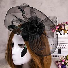 bloem veer sluier tovenaar hoed, haar sieraden voor bruiloft